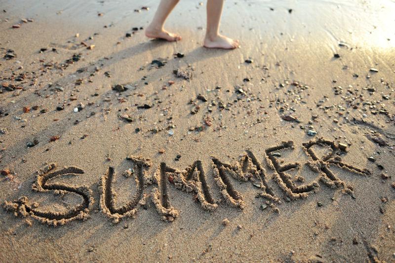 summer written in the sand