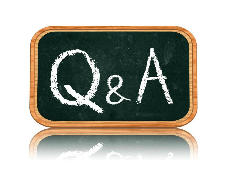 Q & A written on a chalkboard