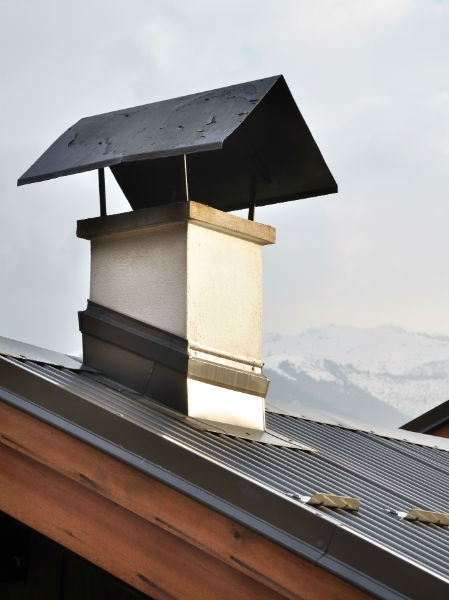 chimney on a roof